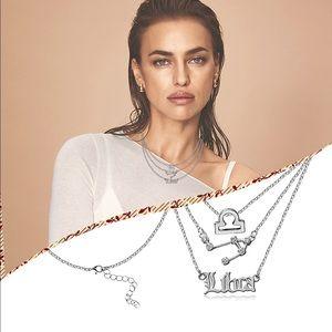 3pc Libra zodiac necklace